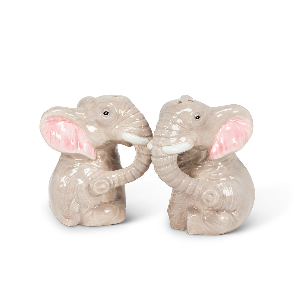 Sitting Elephant S&P Shaker Set