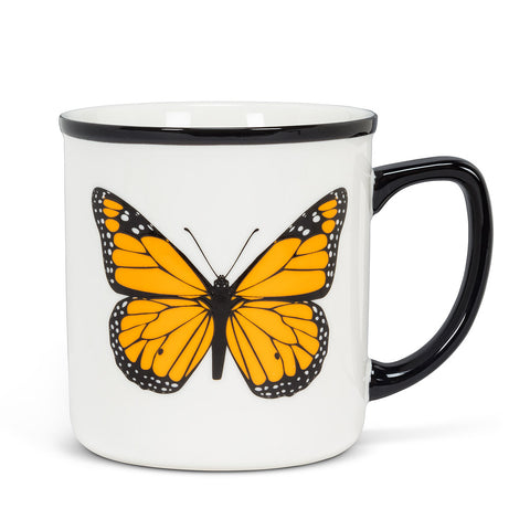 Monarch Butterfly Rimmed Mug