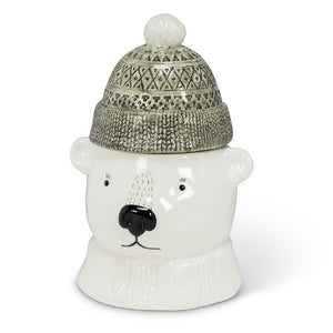 Polar Bear Covered Jar