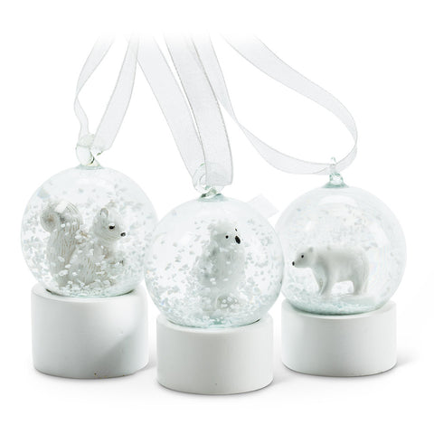 Animal Snow Globe Ornaments