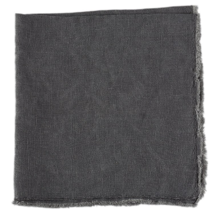 Fringed Napkin Charcoal
