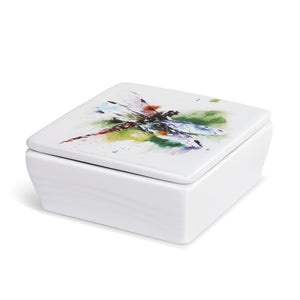 Dragonfly Vanity Box with Lid