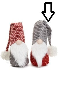 Scandinavian Santa with Grey Folded Hat