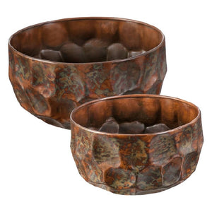 Textured Planter Copper Lg