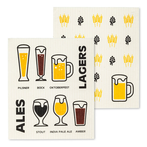 Beer Dish Cloths Set/2