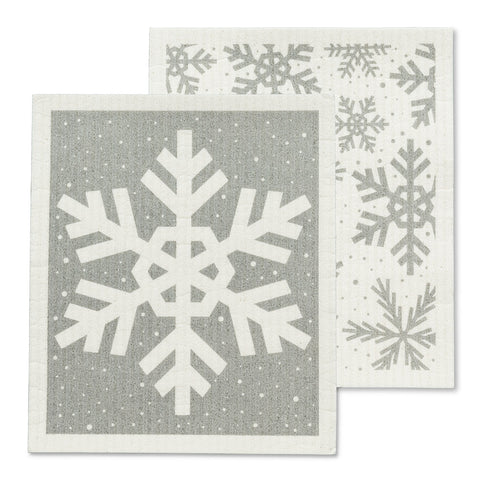 Snowflake Dishcloths set/2