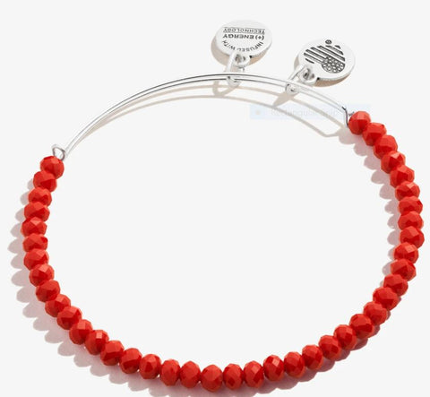 Brilliance Bead Bracelet Burgundy, SR