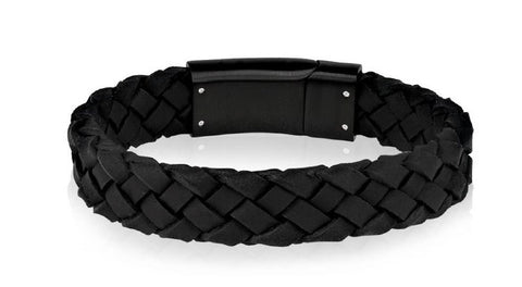 Black Leather Bracelet 9