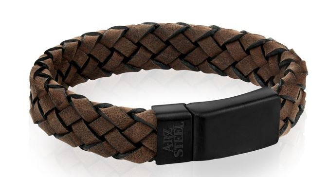 Brown Leather Clasp Bracelet