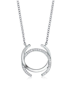 Silver CC Necklace