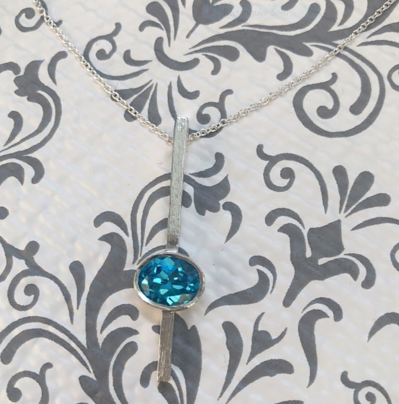 Fern Blue Topaz Necklace