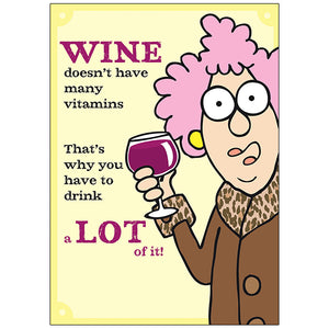 Aunty's Wine - Birthday Card