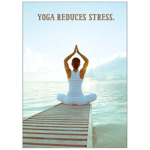 Yoga Reduces Stress - Birthday Card
