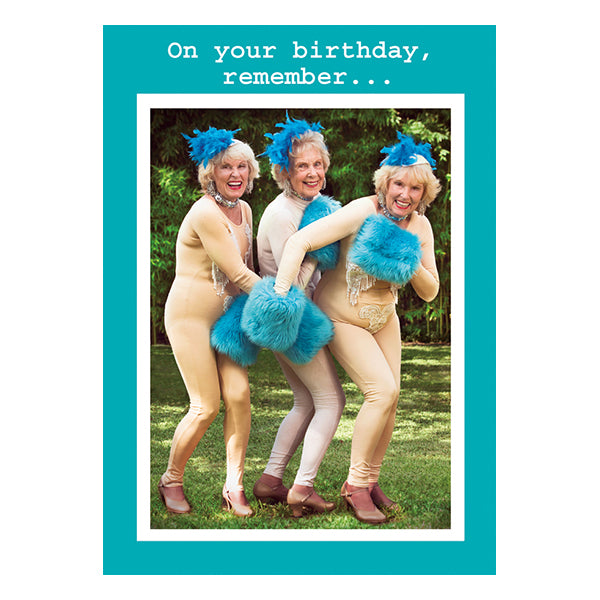 Blue Muffs - Birthday Card