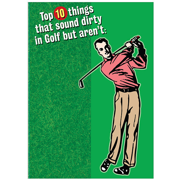 Top 10 Things in Golf - Birthday Card