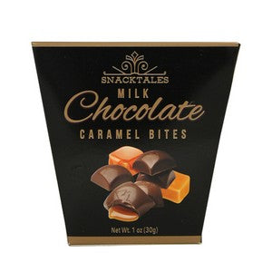 Snacktales Milk Chocolate Caramel Bites Black Box
