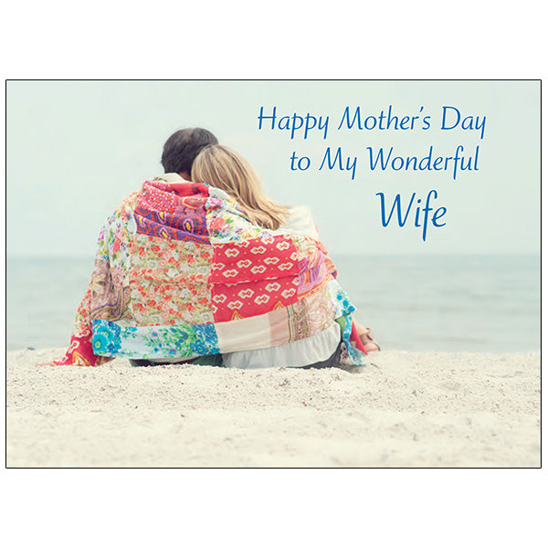 Couple in Quilt - Mother's Day Card