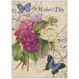 Bouquet with Butterfly - Mother's Day Card