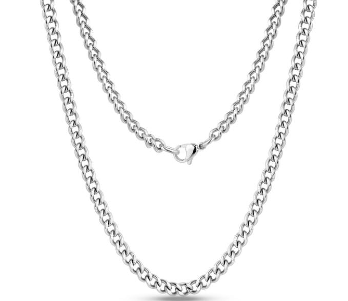 Stainless Steel Cuban Link Necklace