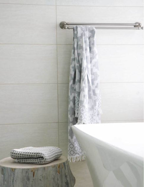 Turkish Towel - Palace - Grey