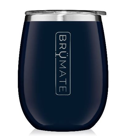 Uncork'd Navy Blue Wine Glass