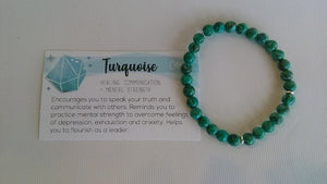 Gemstone Bracelet Green Turq