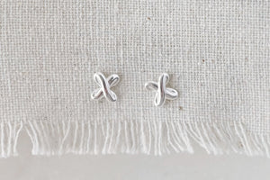 Silver X Earrings