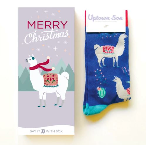 Loco Llama Socks and Card for Her