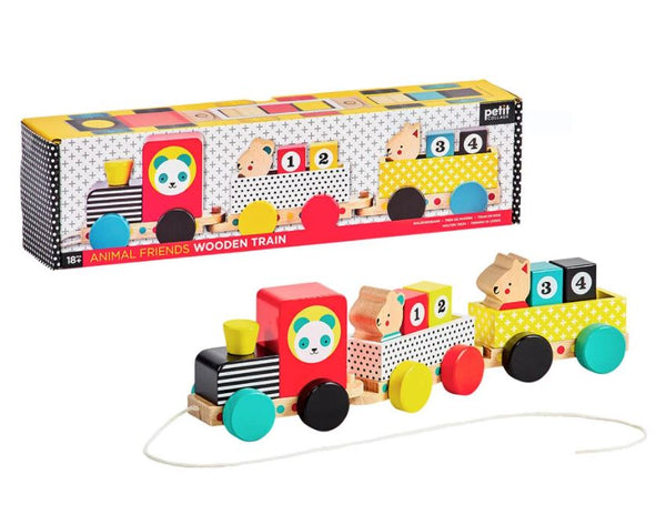 Pull Along Wooden Train