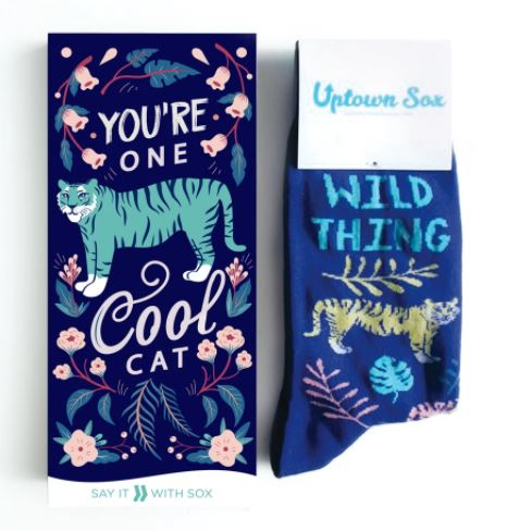 Wild Thing Socks and Card for Him