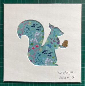 SALE! Mini Unframed Floral Squirrel