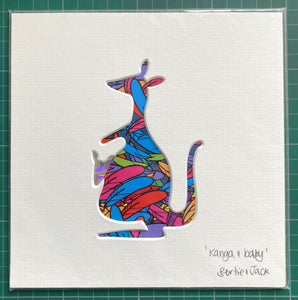 SALE! Unframed Mini Kanga and Baby