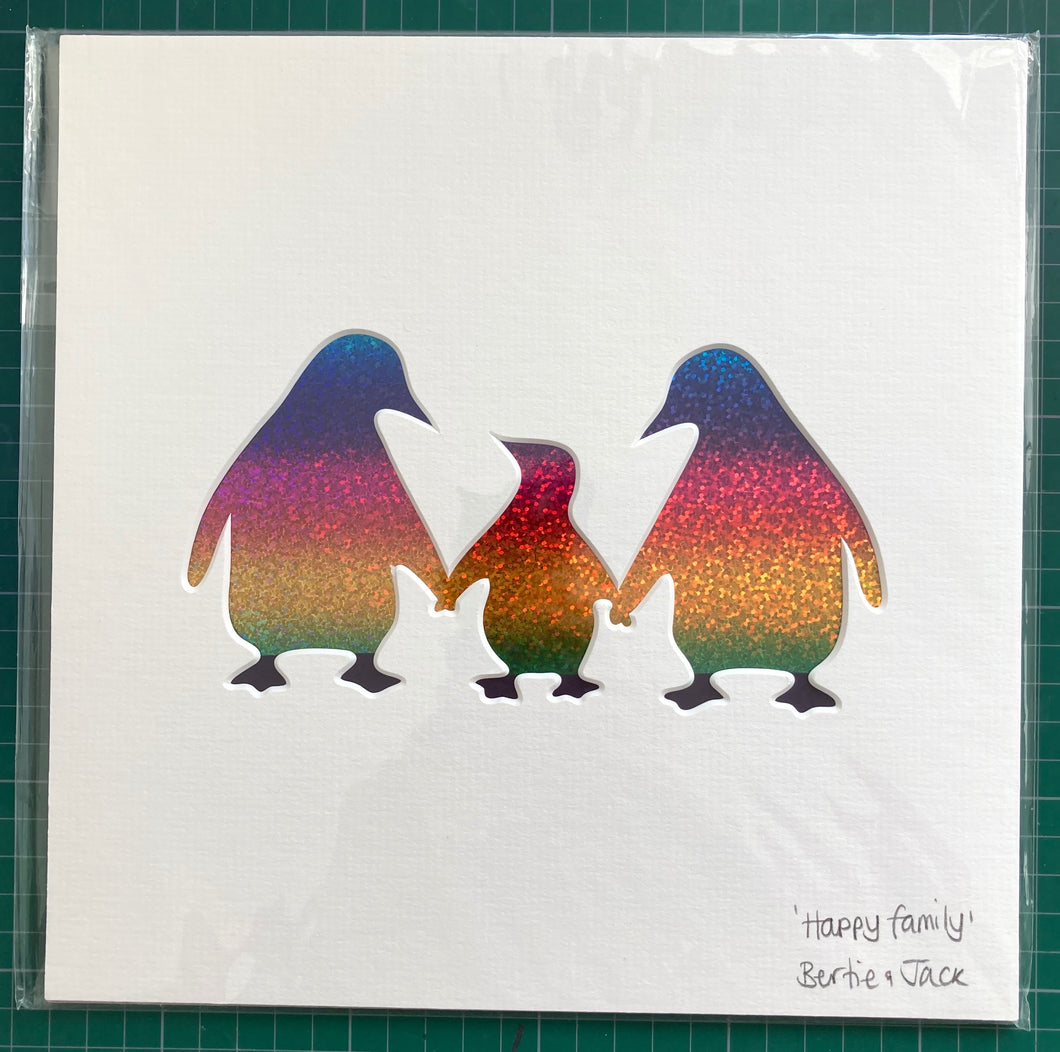 SALE! Small Unframed Happy Family