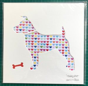 SALE! Small Unframed Happy Pup