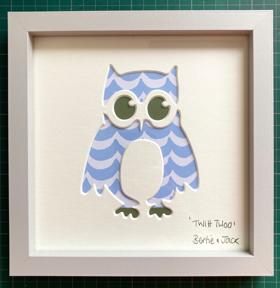 SALE! Framed Mini Twitt Twoo