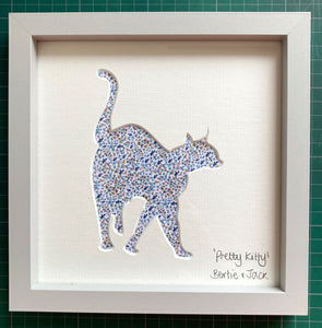 SALE! Framed Pretty Kitty - Floral