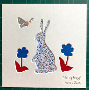 SALE! Unframed Mini Spring Bunny