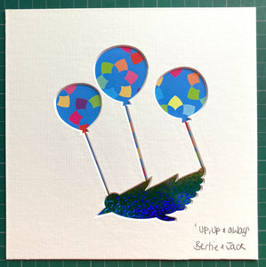 SALE! Unframed Mini 'Up,Up & Away'