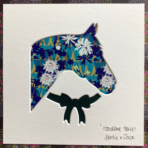 SALE! Unframed Mini 'Handsome Horse'