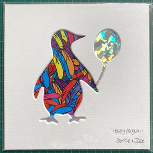 SALE! Unframed Mini Happy Penguin