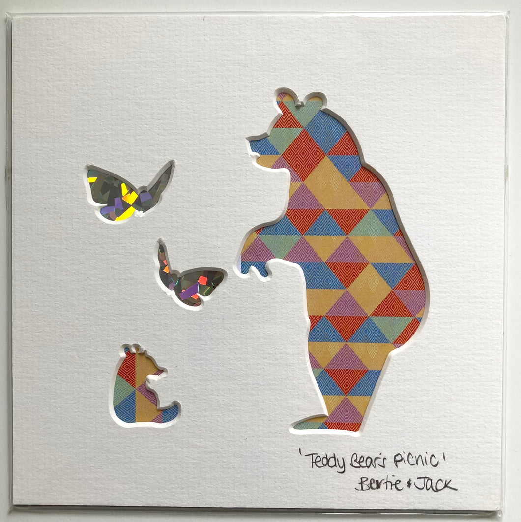 SALE! Unframed Mini Teddy Bear's Picnic