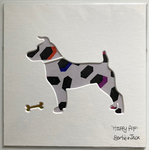 SALE! Unframed Mini Happy Pup