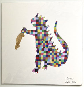 SALE! Unframed Medium Dino