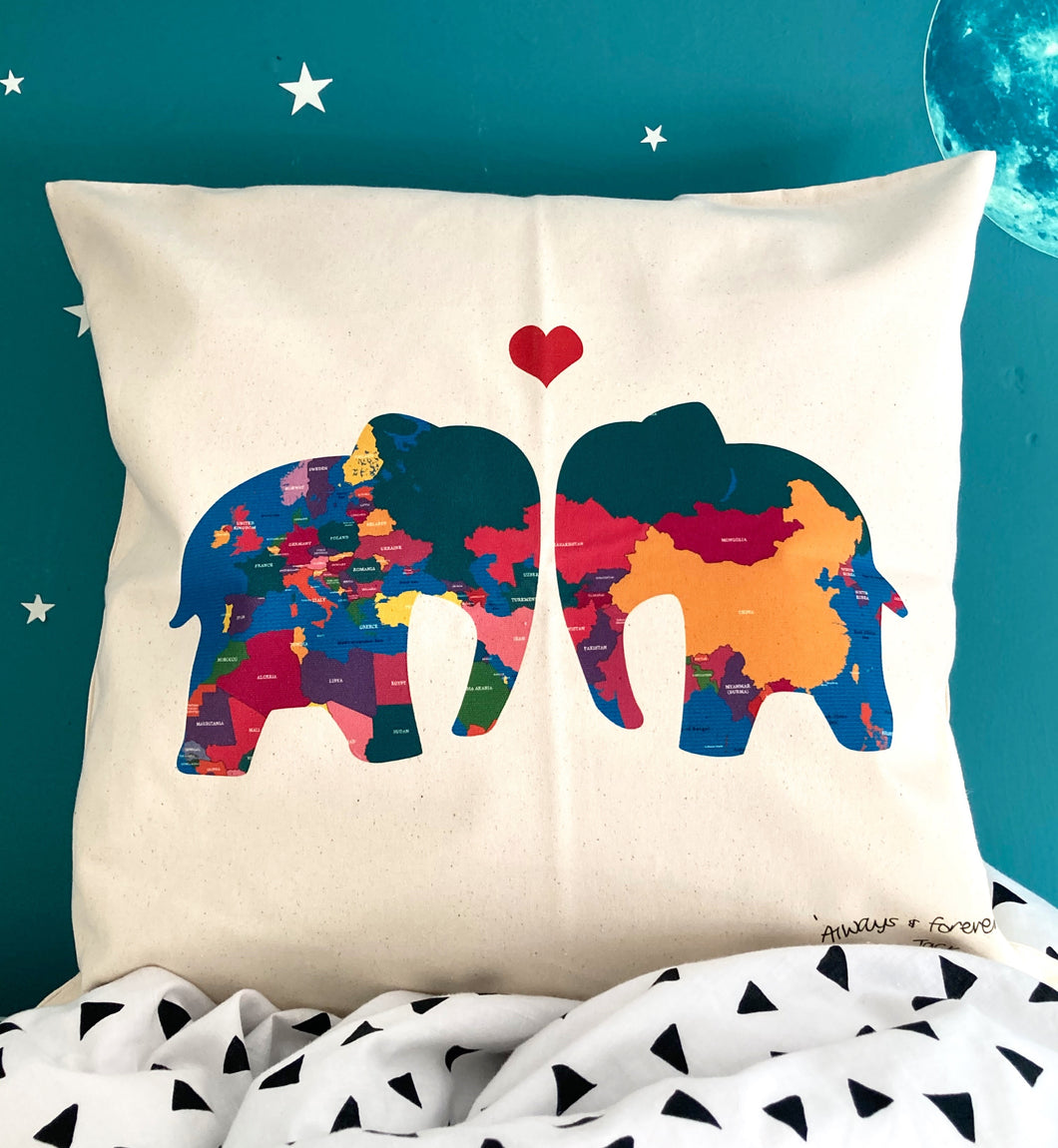 SALE! World Map Ellys Cushion