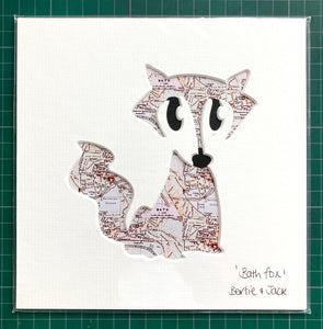 SALE! Unframed Mini Bath Fox