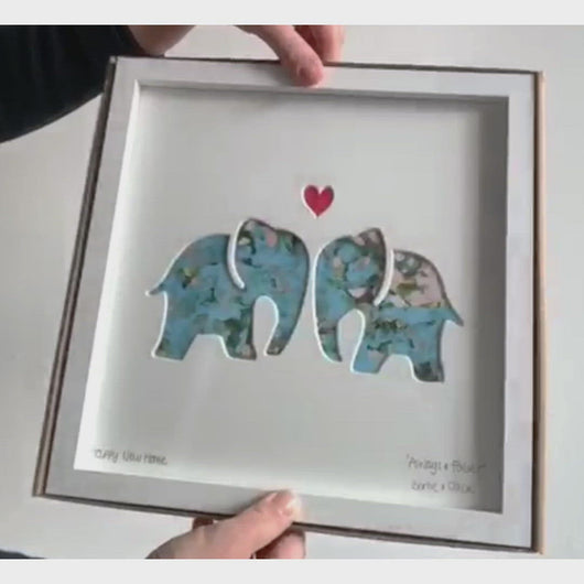 Bertie & Jack Always and Forever Elephants video, shown with gift box.