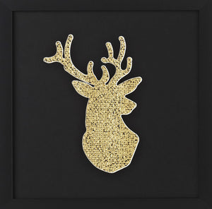 Limited Edition Framed Gold Stags Head