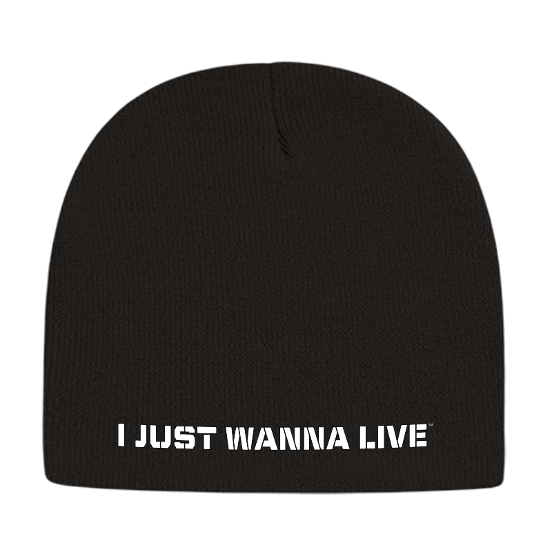 I JUST WANNA LIVE BLACK BEANIE