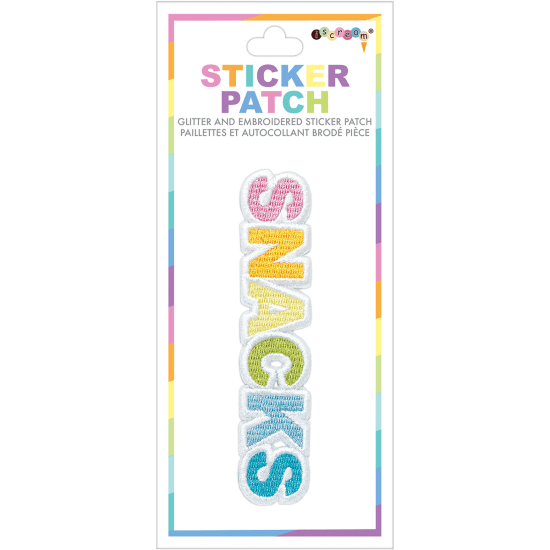 Snacks Embroidered Patch
