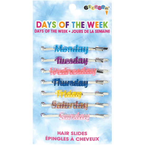 Days of the Week Hair Slides